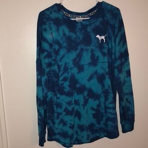 Like New VS Pink Oversized Tye dye Sweater